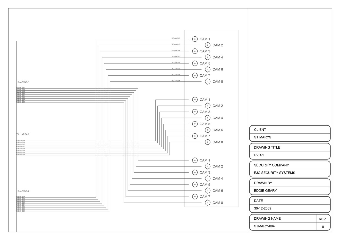 2d Autocad By Eddie Geary At Dvr Wiring Diagrams Diagrama