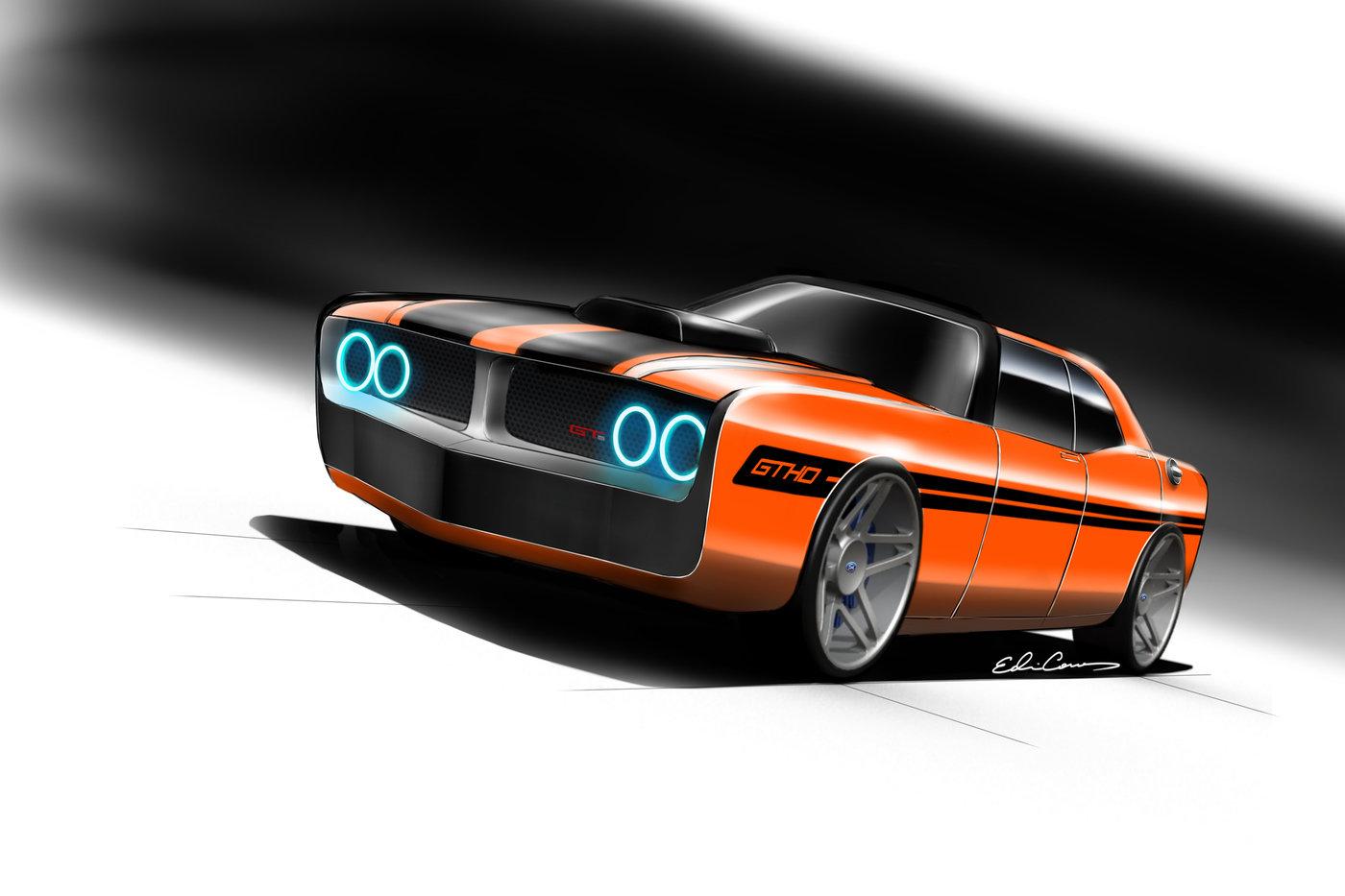 Ford Falcon GTHO Concept by Edwin Conan at Coroflot.com