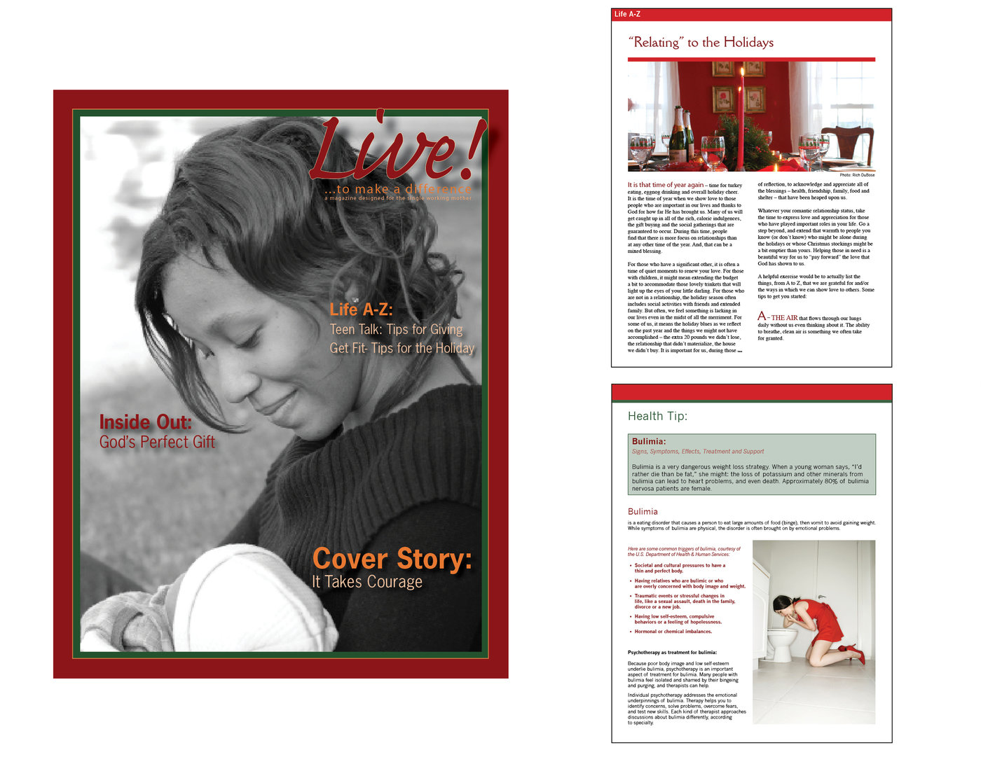 Live eMagazine by Gisela Vargas at Coroflot com