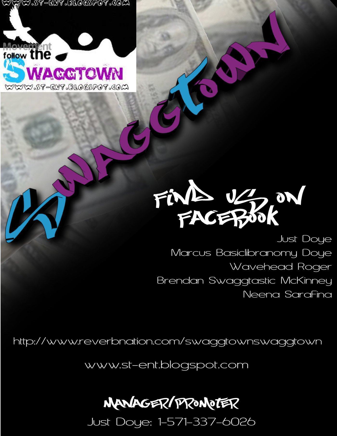 Recent graphic design work by shawn moore at coroflot swaggtown promotion flyer back malvernweather Image collections