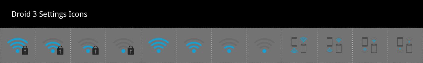 Motorola Droid 3 Icons by Tiffany Tay at Coroflot com