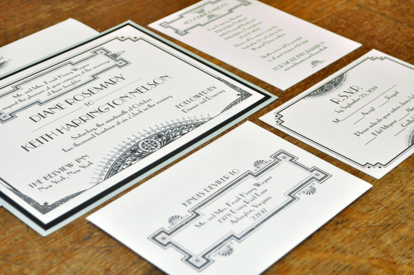 Great Gatsby Wedding Invitation: Great Gatsby I Wedding Invitation By Kaylin Willitts At