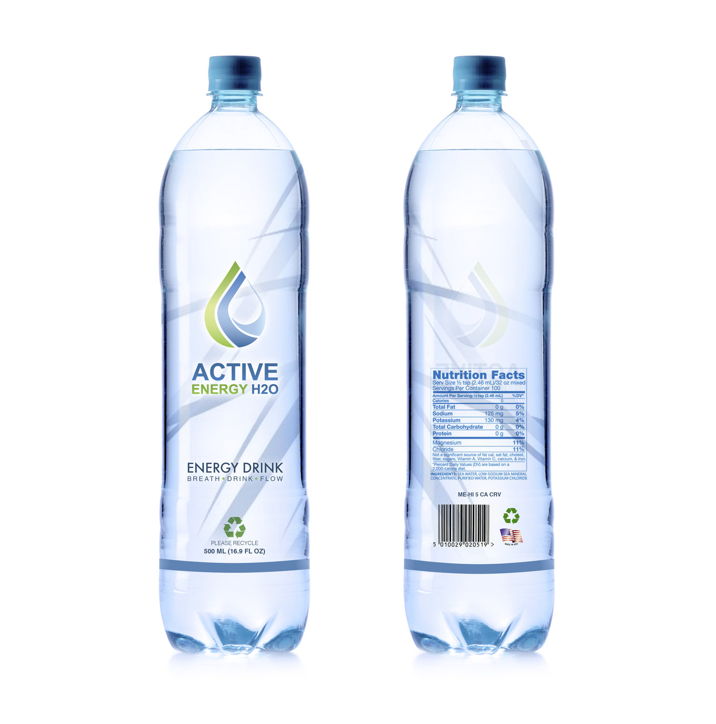 4c5ada463dd9 Zhen Xiong (Julian) Tan. Logo and Label Package Design for Active Energy H2O