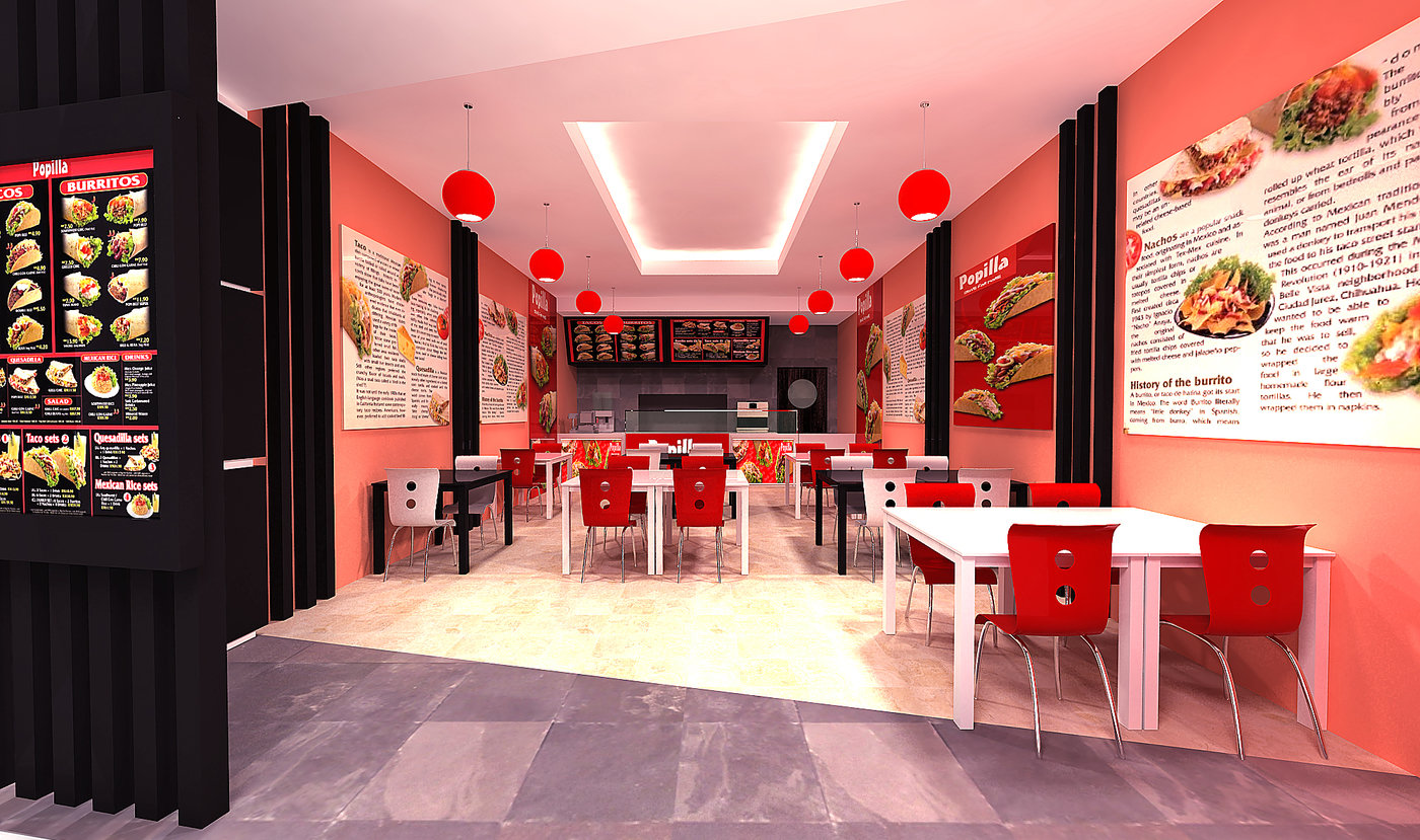 Popillia restaurant interior proposals by khairul anwar