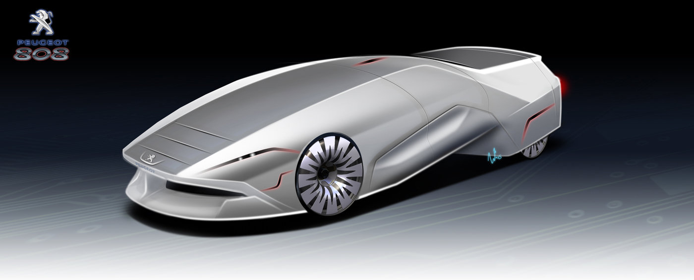 Peugeot 808 Sci Fi Car By Niklas Wejedal At Coroflot Com