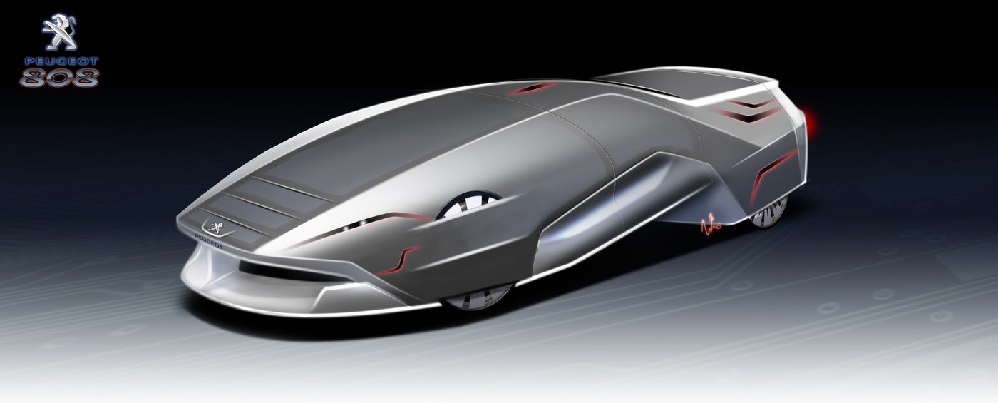 Peugeot 808 Sci-Fi Car By Niklas Wejedal At Coroflot.com