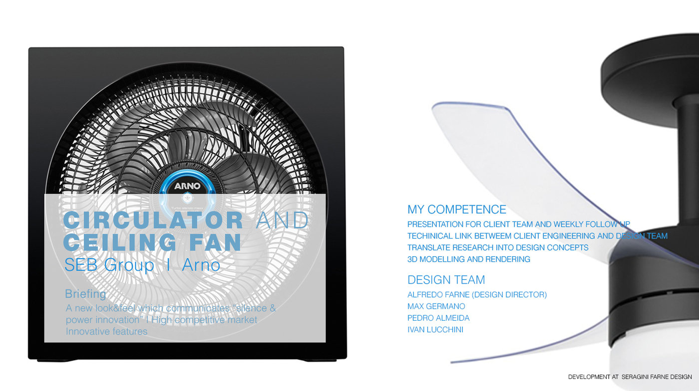 Arno - Circulator and Ceiling fan by Max Germano at Coroflot com