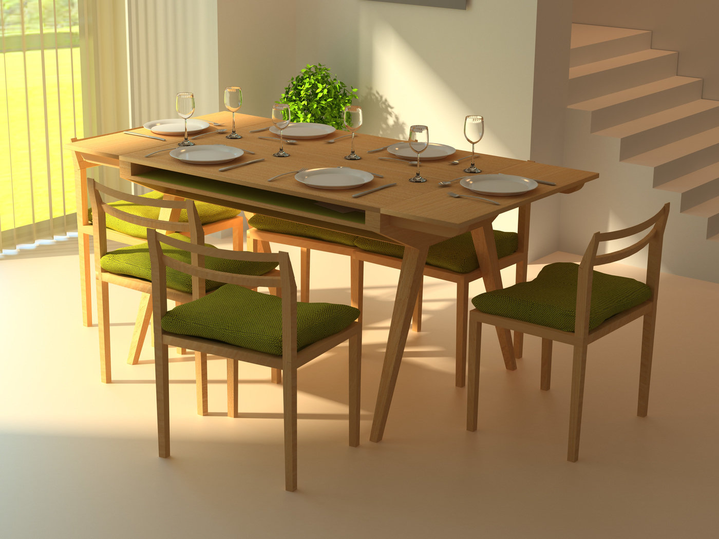 Will Dining Table/Desk by Lisa Sandall at Coroflot com
