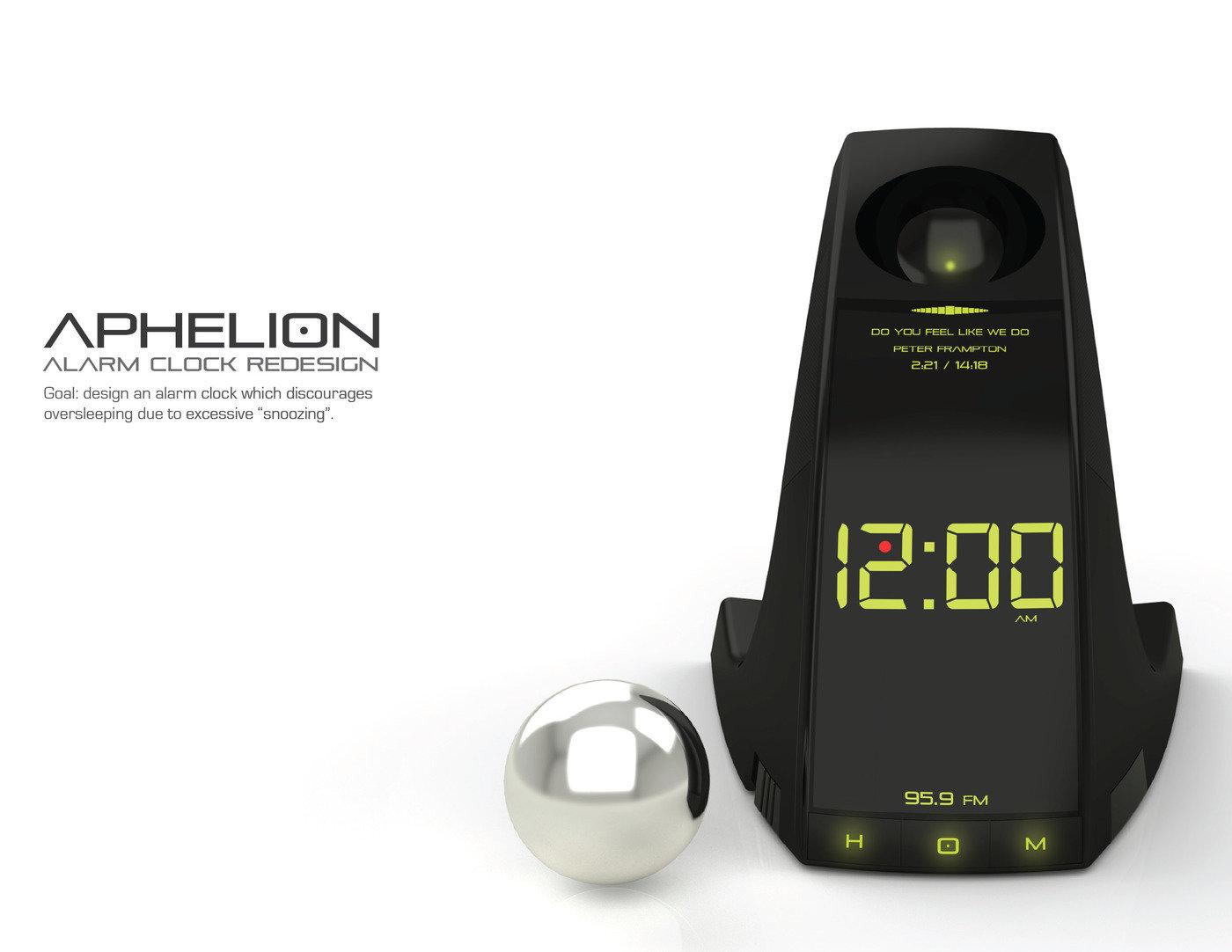 Aphelion - Alarm Clock Redesign by Corey Harris at Coroflot com