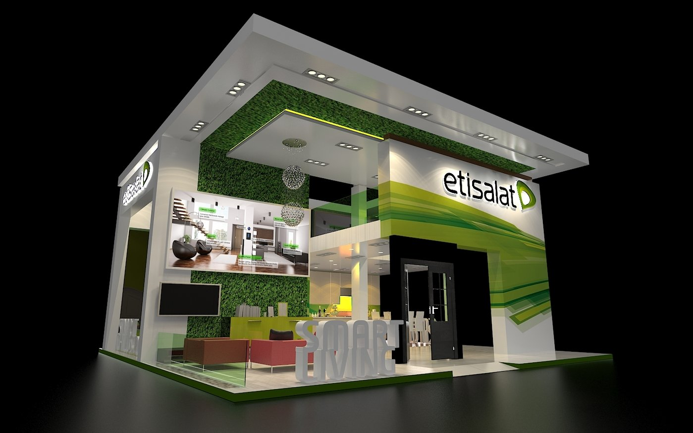 Exhibition Stand Hire Kent : Etisalat exhibition booth stand by rohtash jangra at coroflot
