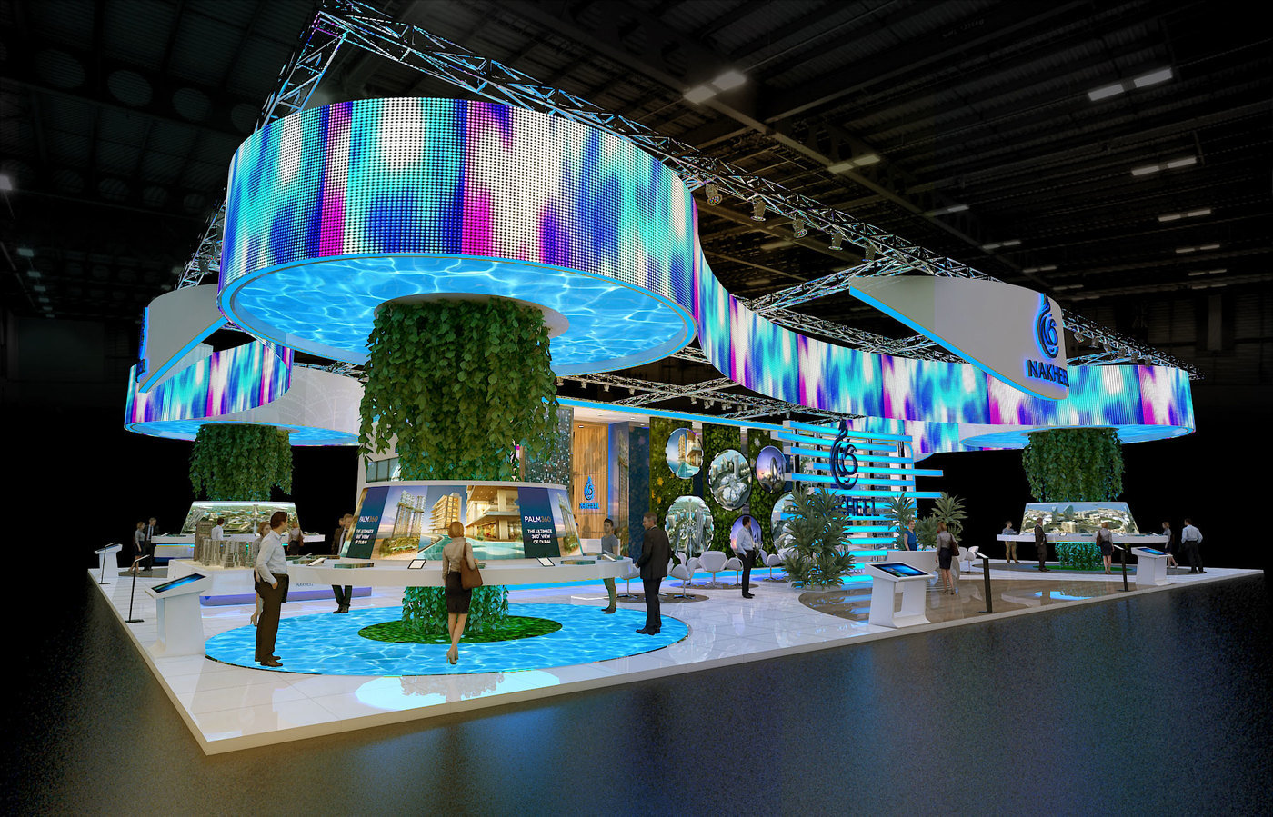 Exhibition Booth Decoration : Nakheel exhibition booth by rohtash jangra at coroflot