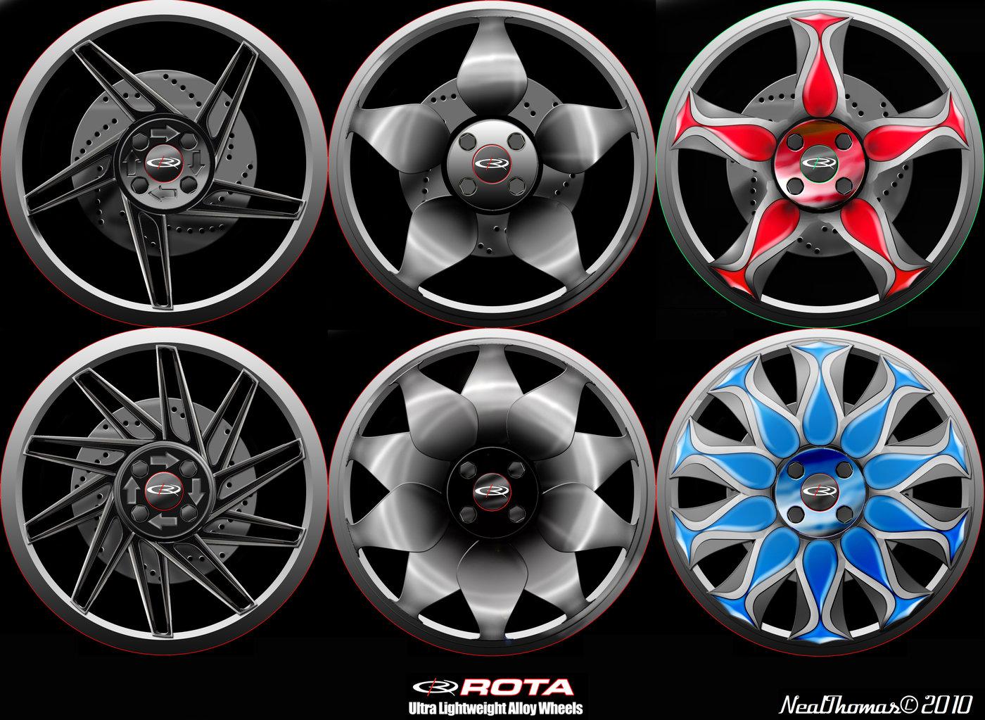 Rota Alloy Wheel Design by Neal Thomas at Coroflot.com