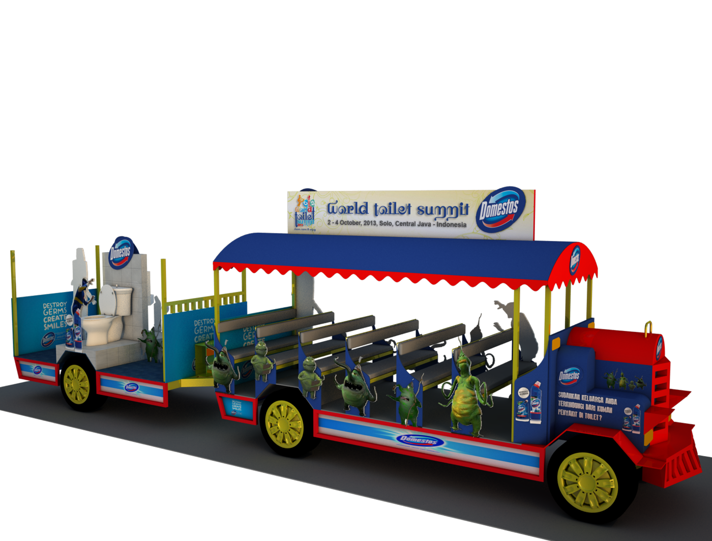 Domestos carnaval truck @ World Toilet Summit 2013 by BAGUS