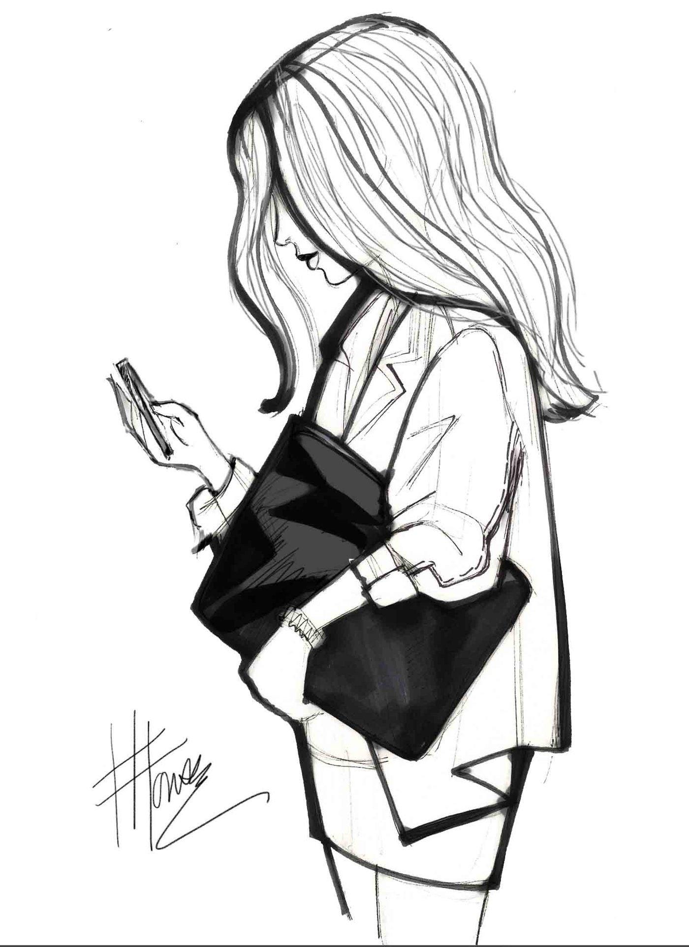 Black and White Fashion Sketches