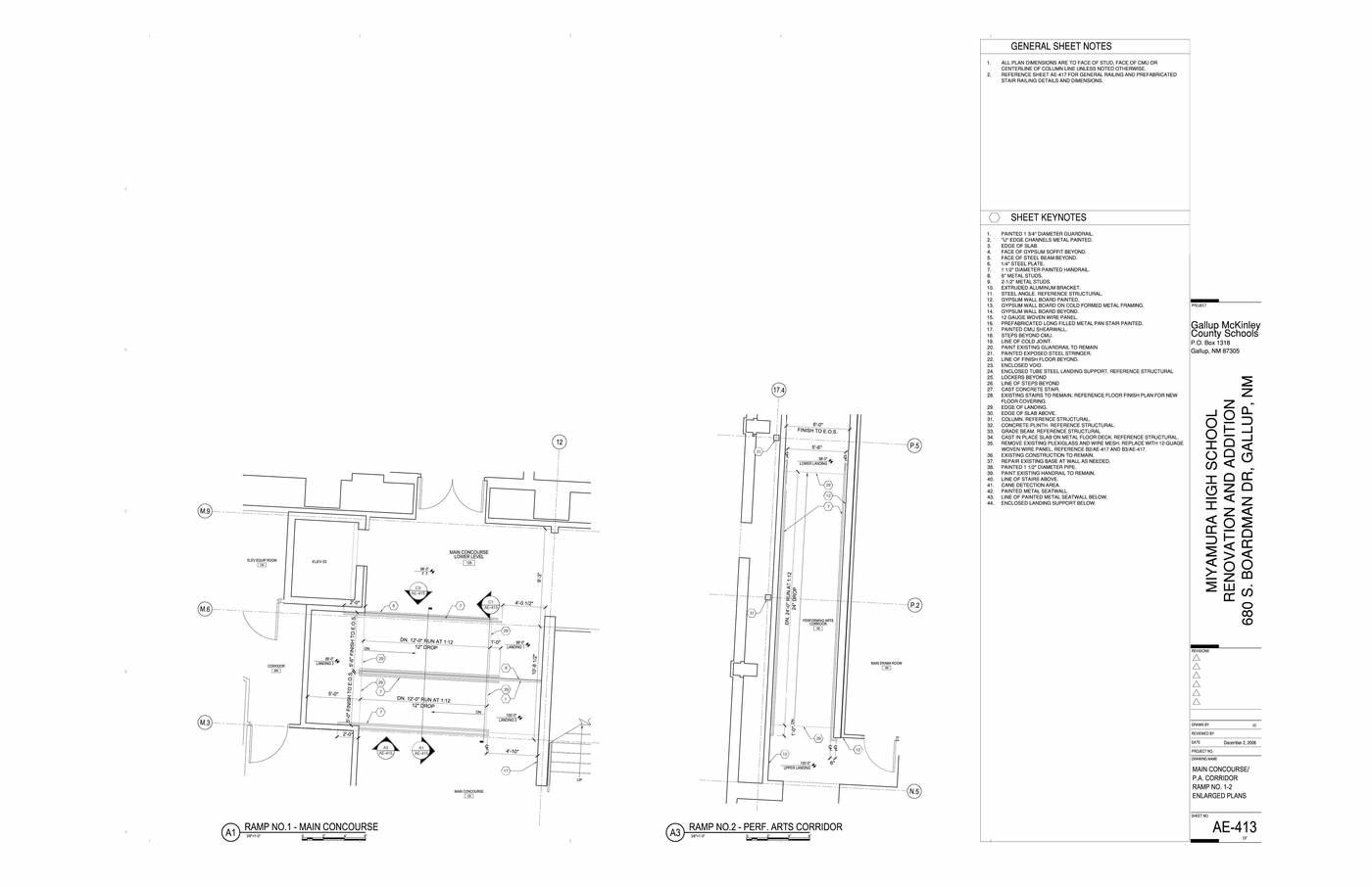 drafting and detailing examples by Ian Blue at Coroflot com