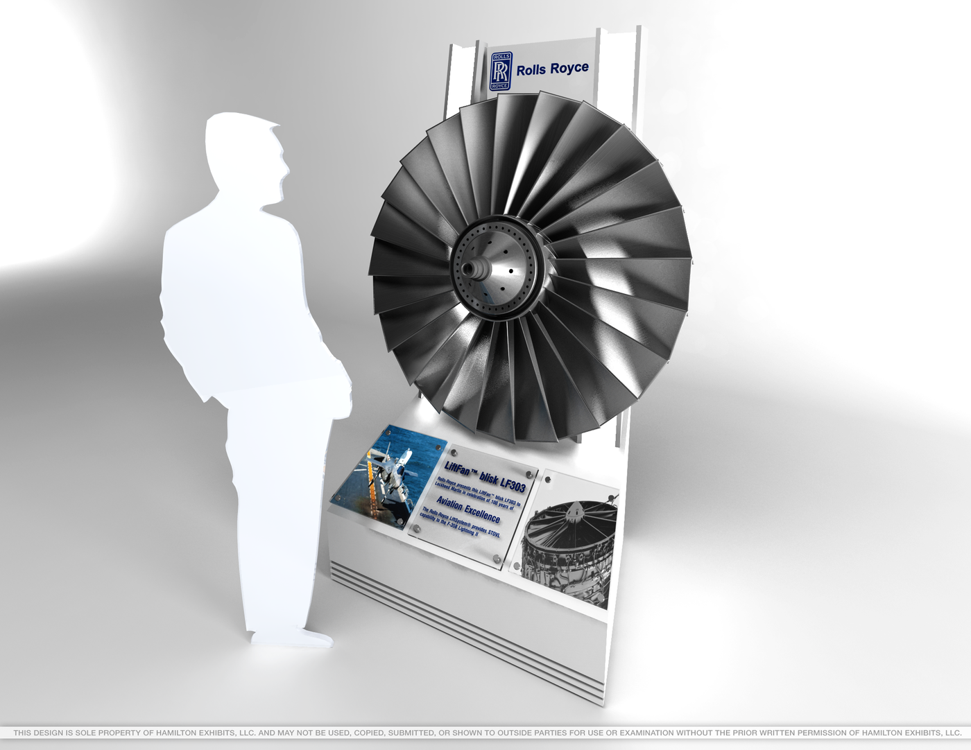 Rolls Royce: Blisk Fan Display by Aric Furfaro at Coroflot com