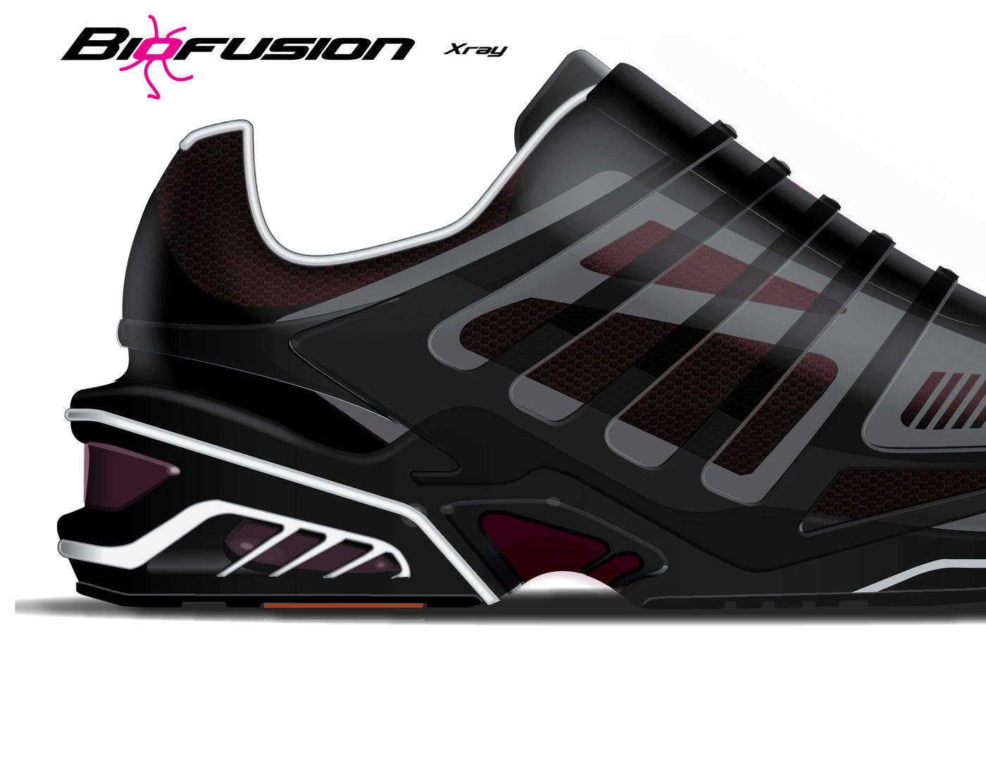 Biofusion Xray Running Shoes Inspired By Anatomy By Jeffrey Senez