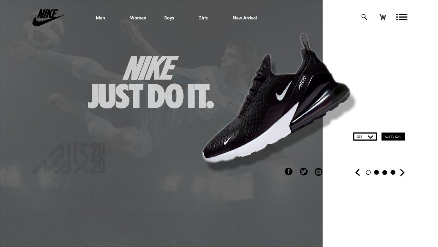 tubo robo kiwi  Nike Web Design Template by Henry Oyibotha at Coroflot.com