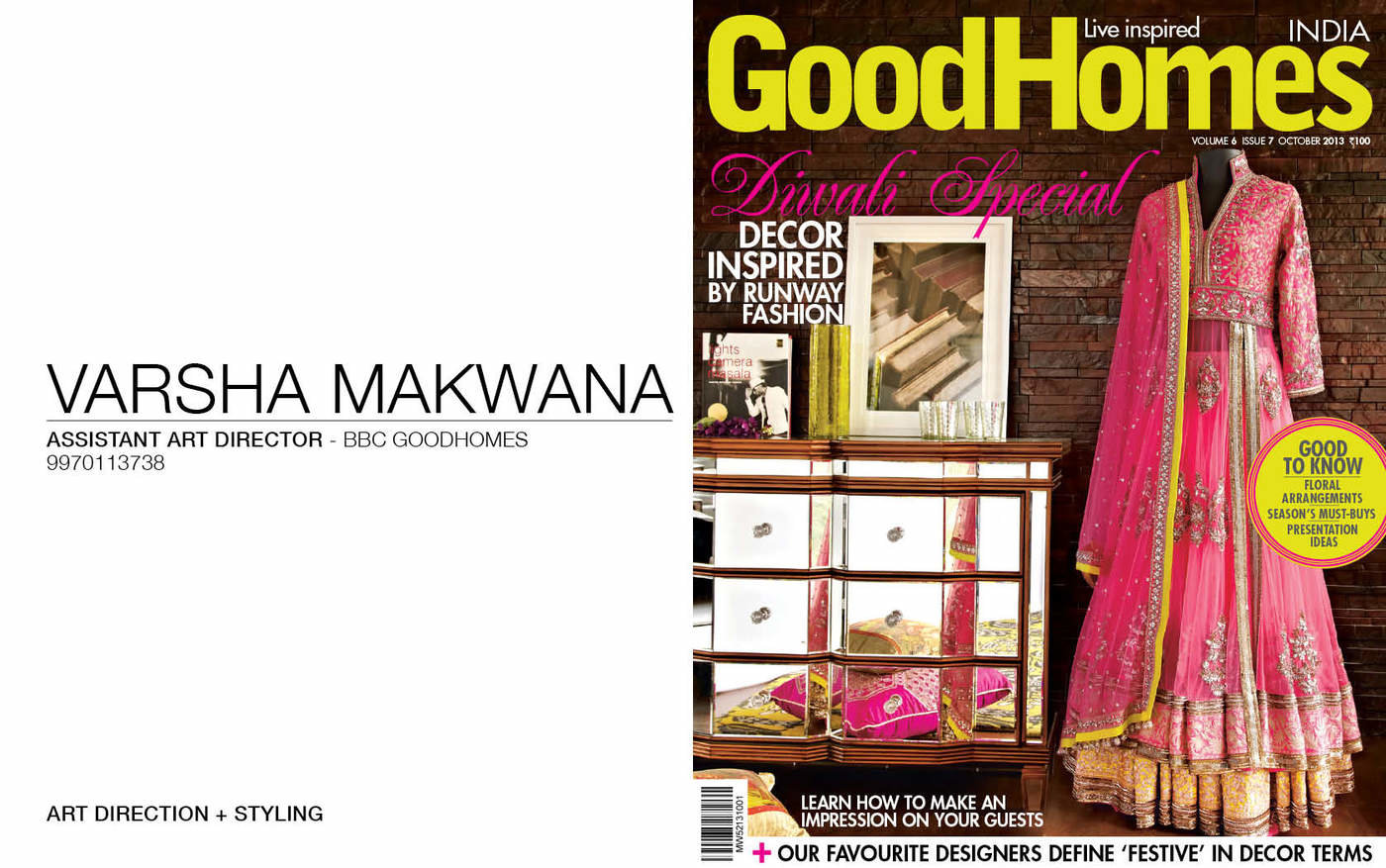 StylingFor Goodhomes Magazine by Varsha Makwana at Coroflot com