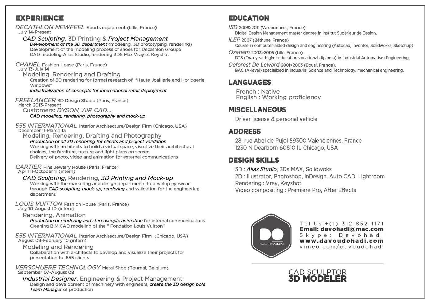 Institut Supérieur De Design Valenciennes porfolio davoud ohadidavoud ohadi at coroflot