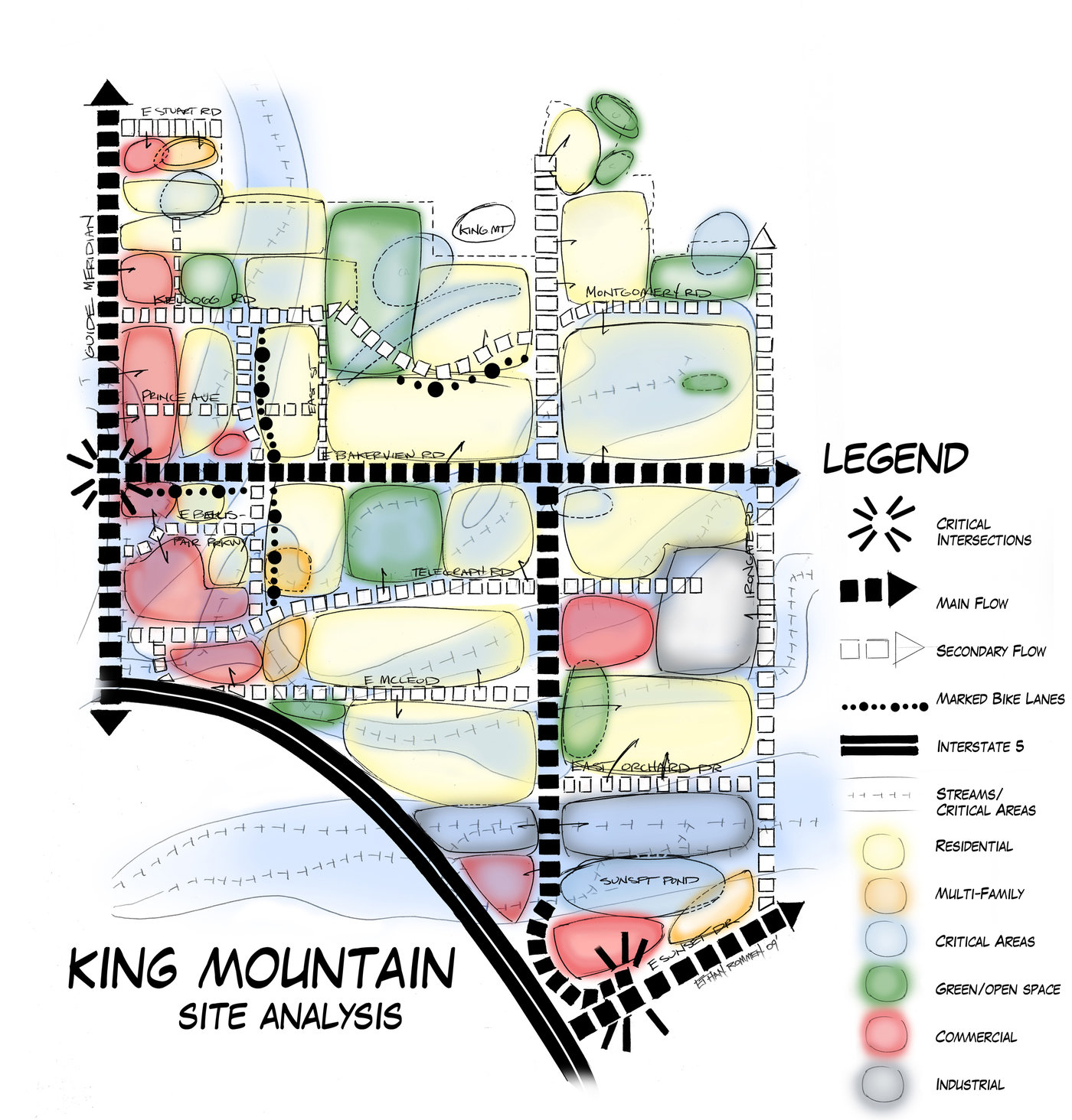 Site Architecture Map: King Mountain Site Analysis By Ethan Romnor At Coroflot.com