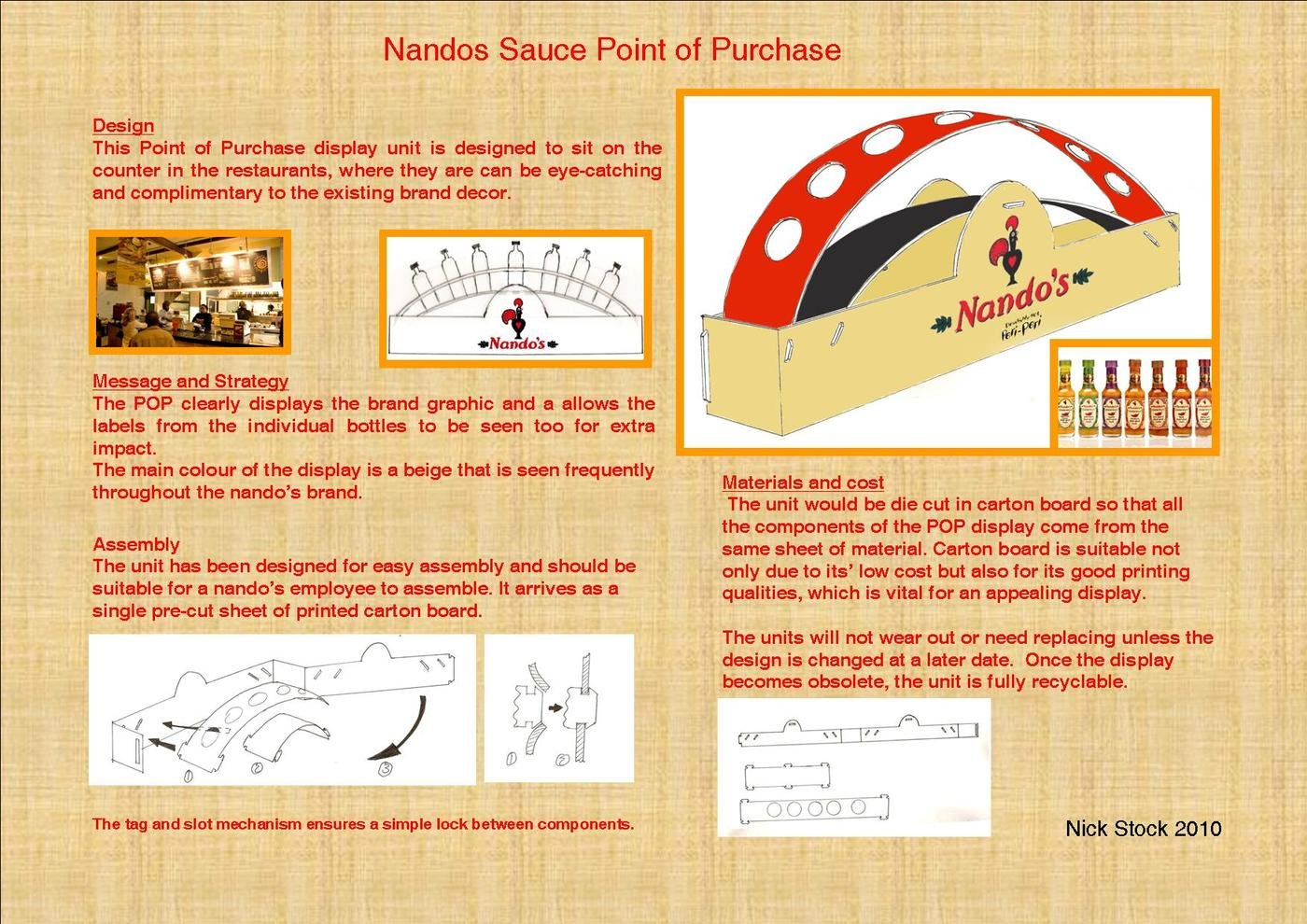 Point of Purchase for Nandos Restaurants by Nick Stock at