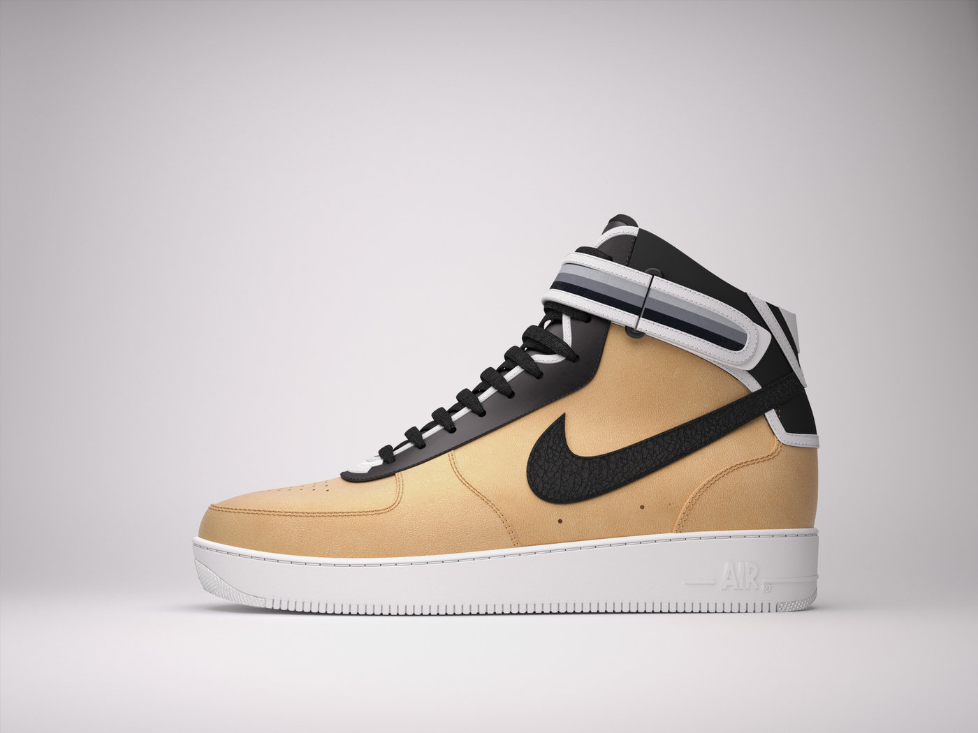 3D model Nike Air Force1 RT by Israel Corral at Coroflot com