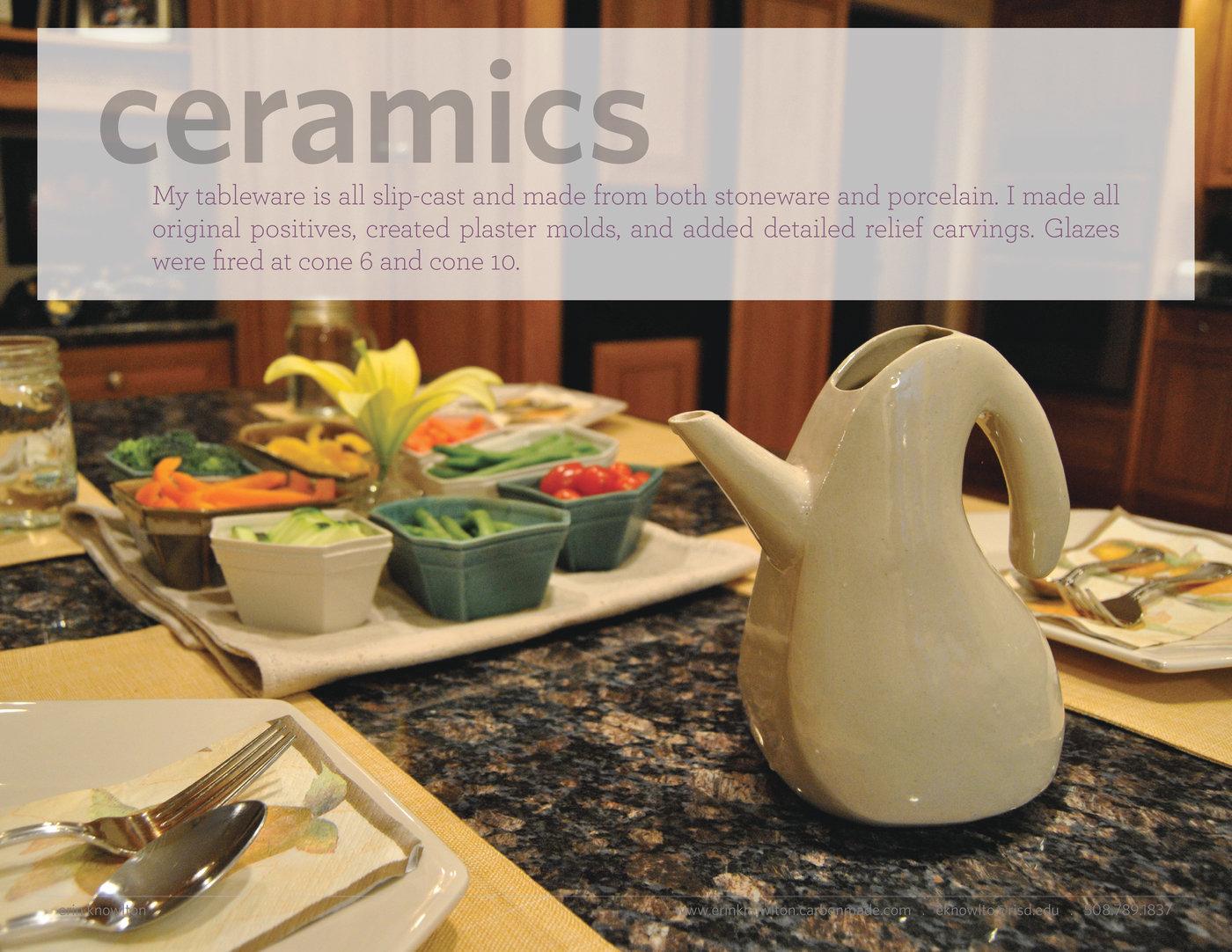 Production Ceramics by Erin Knowlton at Coroflot com