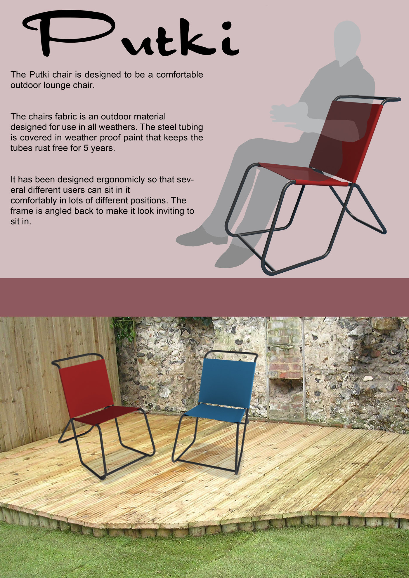 Tubular Steel Chair For This Project We Were Given 9 Meters Of 3 4 Inch And Had To Design A Any Purpose