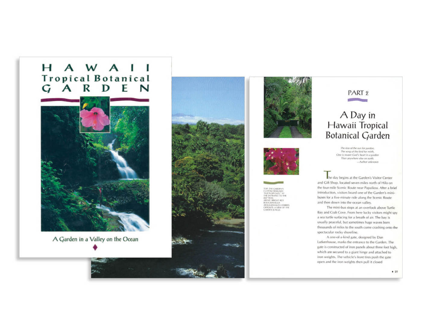 Client Hawaii Tropical Botanical Garden Project Souvenir Book Coffee Table Creative Involvement Art Direction Page Layout Ion