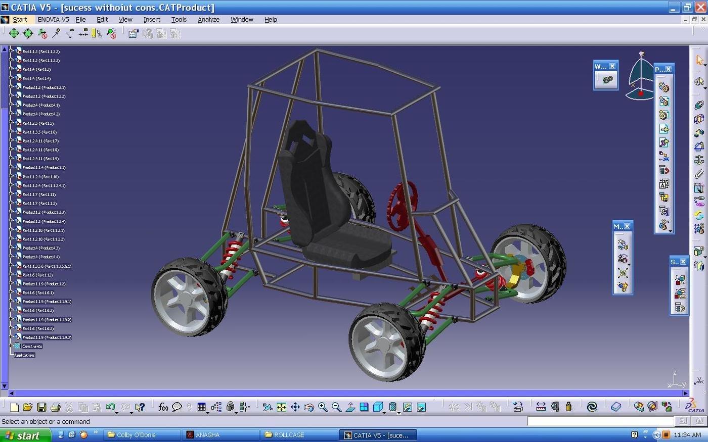 Sae Baja Vehicle Catia V5 Design By Gokula Krishnan At