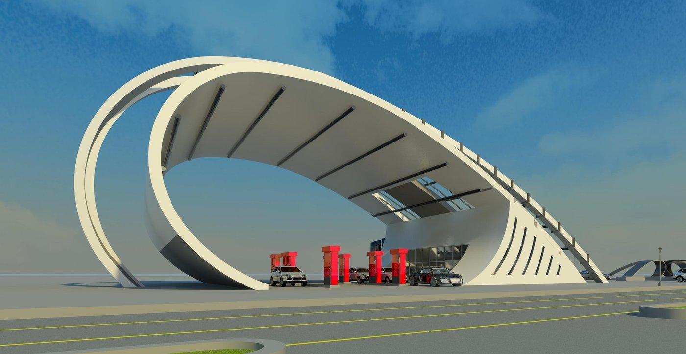 Modern Gas Station By Movses Dzhansyan At Coroflot Com