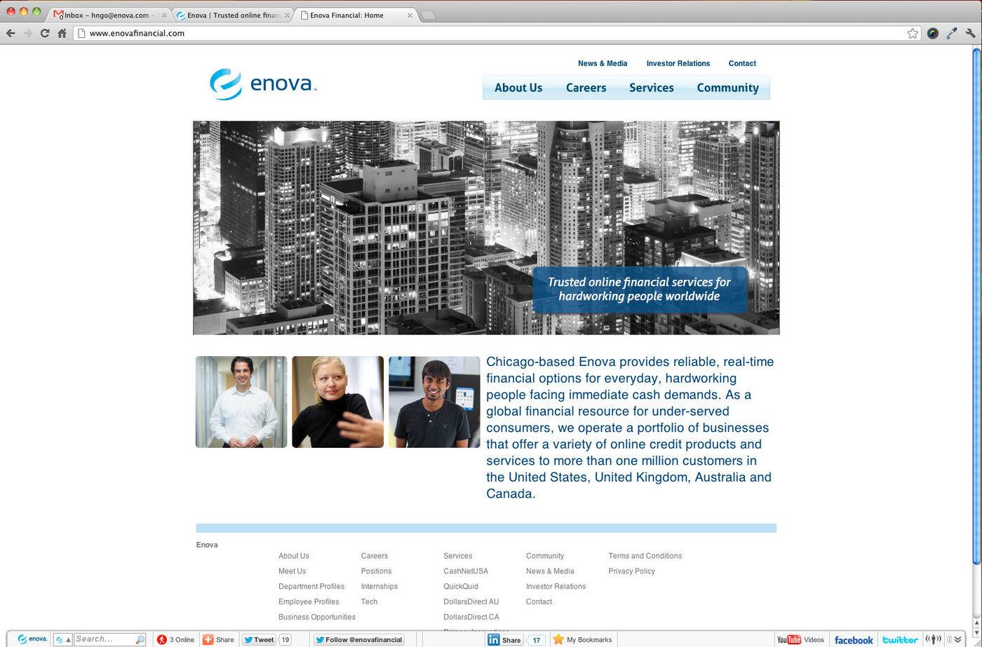 Enova Website Redesign By Huong Ngo At Coroflot