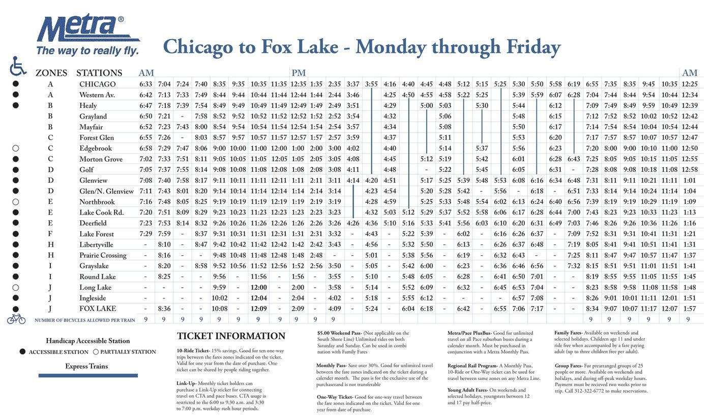 metra train schedule by tim younan at coroflot