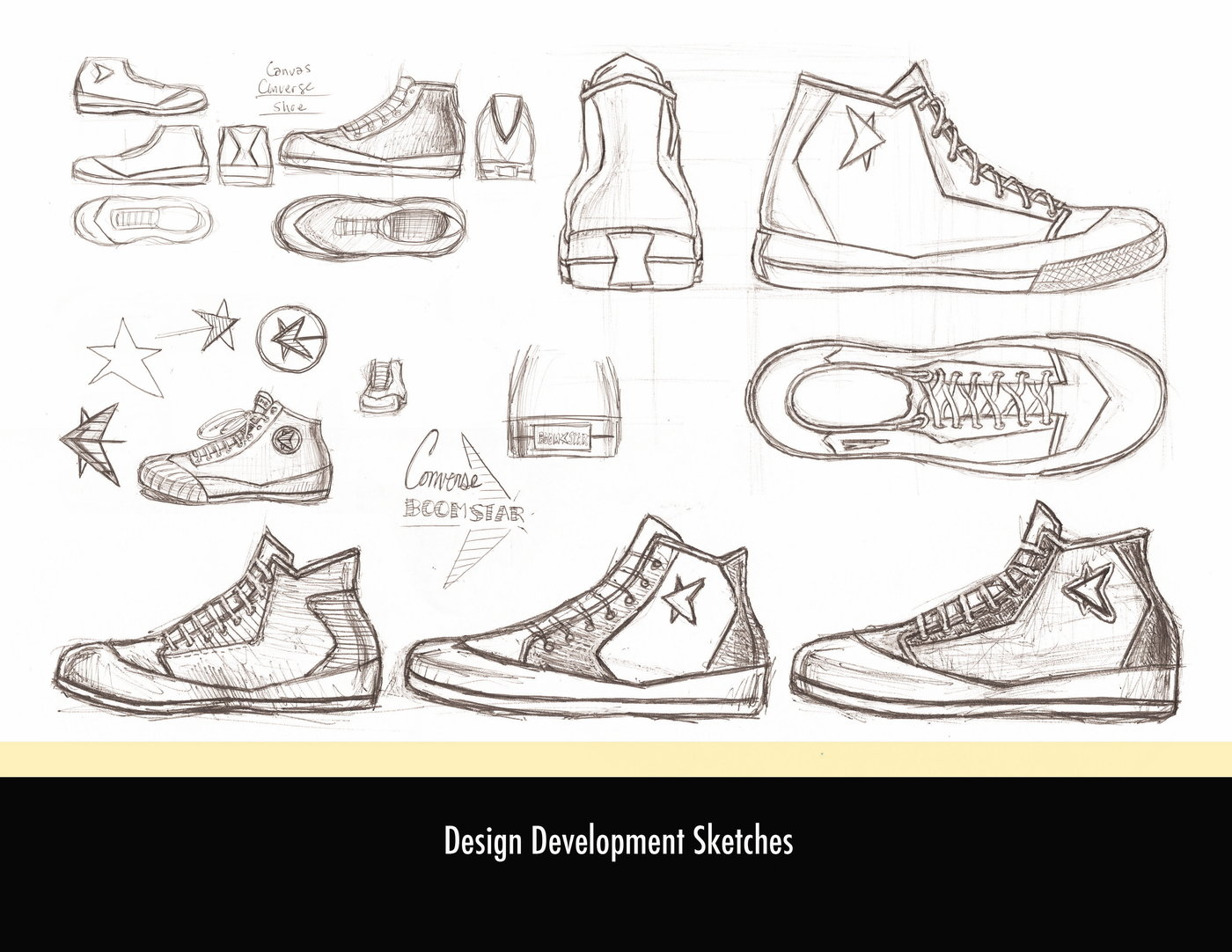 to wear - Shoe Converse drawing design video