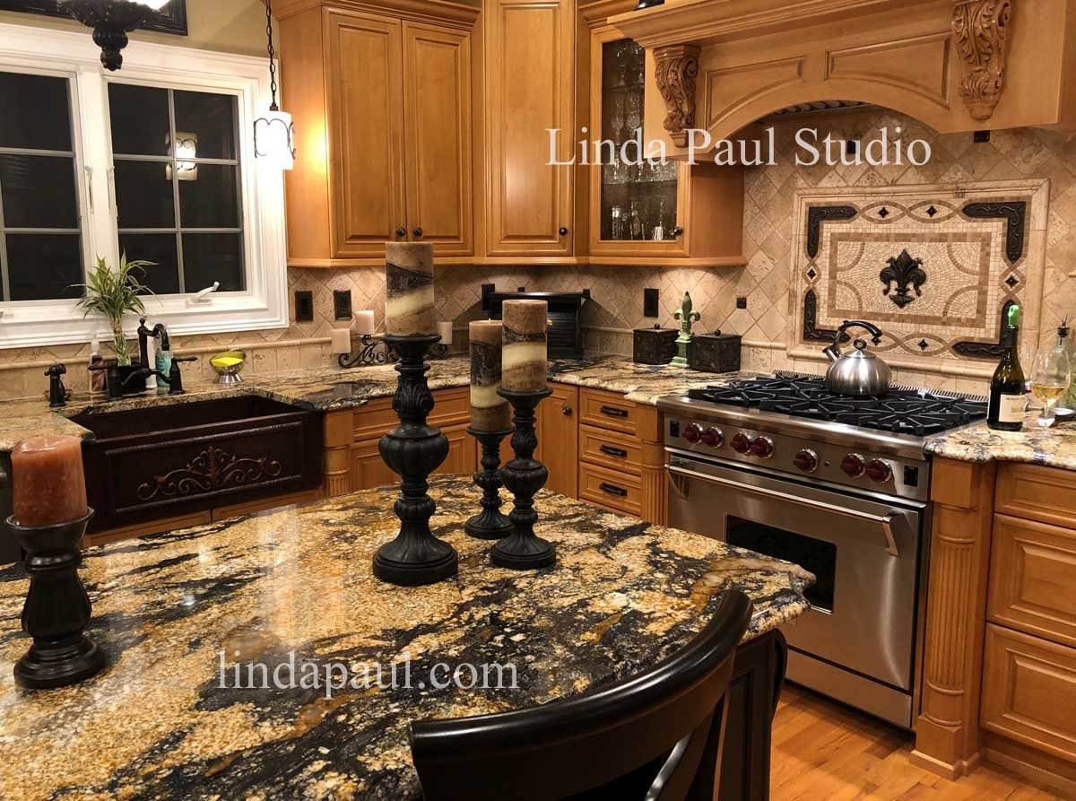 Kitchen Backsplash Mosacis and Tile Murals by Linda Paul Studio by ...