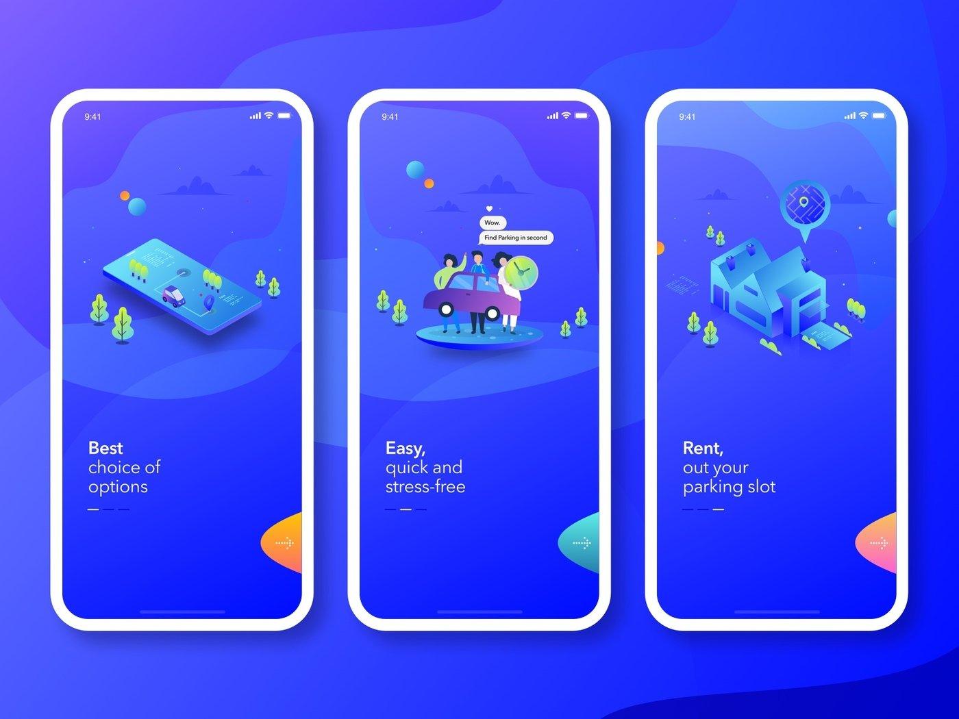 Parklike App Design (Work-in Progress) by lokesh kumar at