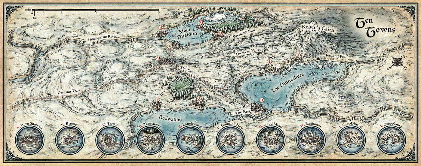 Fantasy Cartography by Mike Schley at Coroflot com