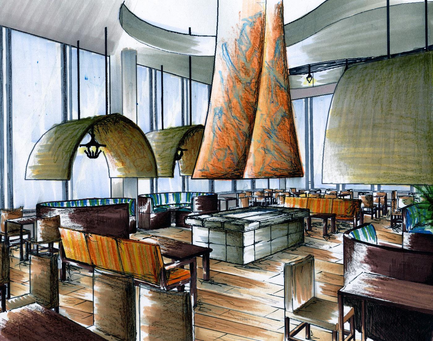 Restaurant design by kelsey berg at coroflot