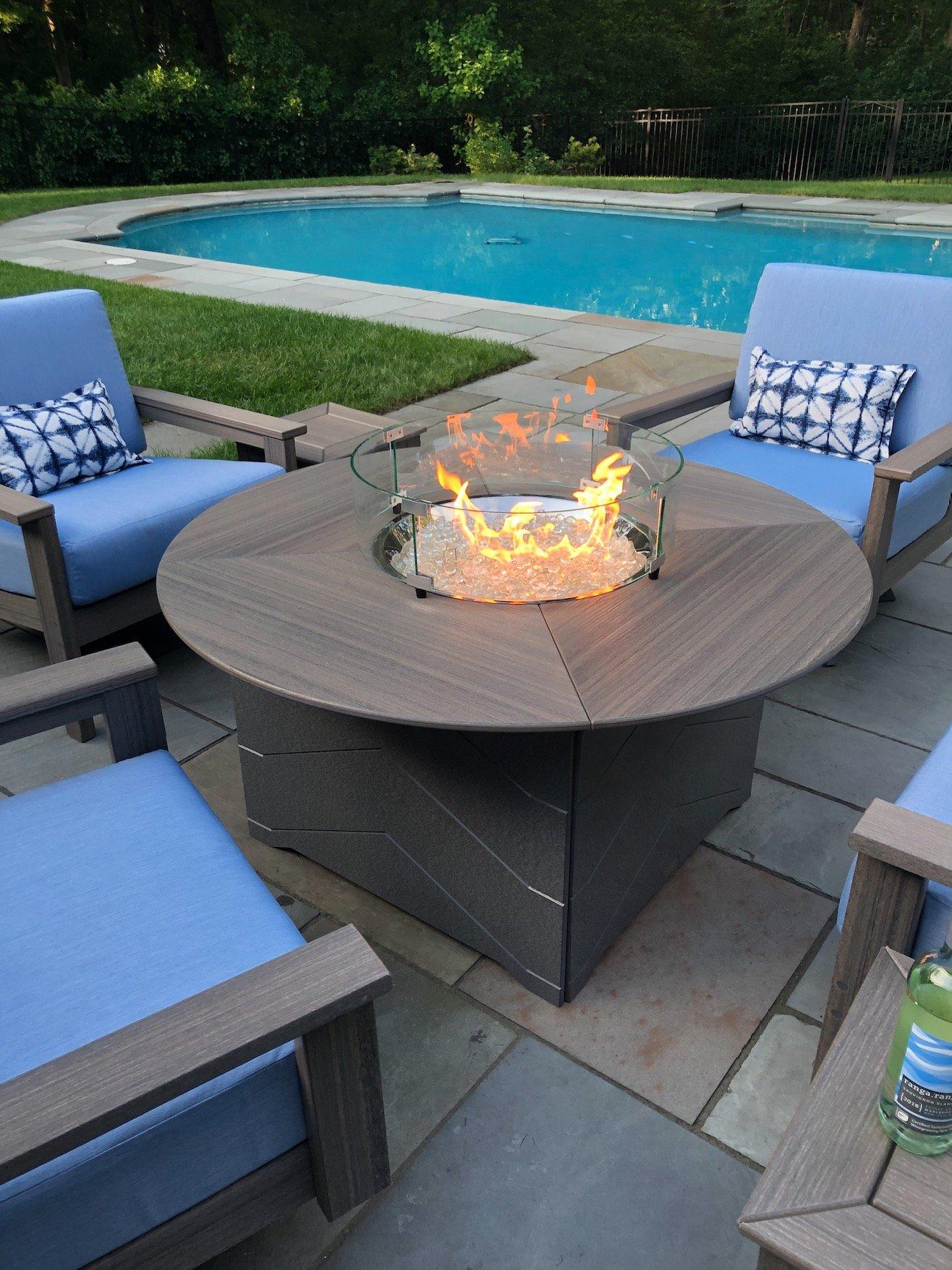 Astounding Aura 50 Chat Height Fire Table Dex Swivel Chair Based On Ncnpc Chair Design For Home Ncnpcorg