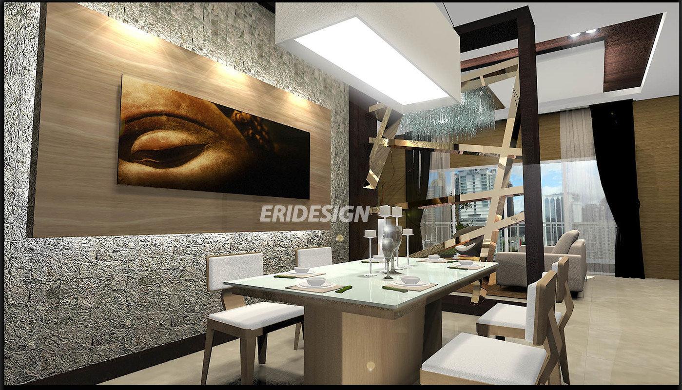 modern zen interior by Eri Kan at Coroflot.com