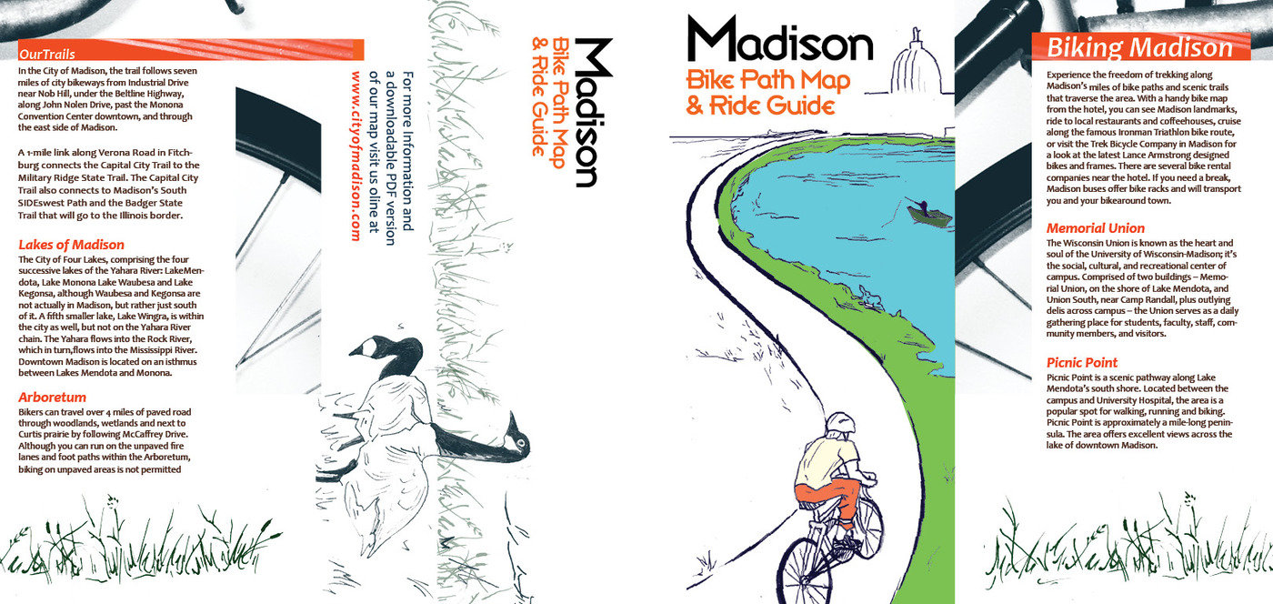 Madison Bike Map by Jordan Clark at Coroflot.com on madison bus map, madison park map, madison river map, madison bike trail map, madison street map, madison bike route map,