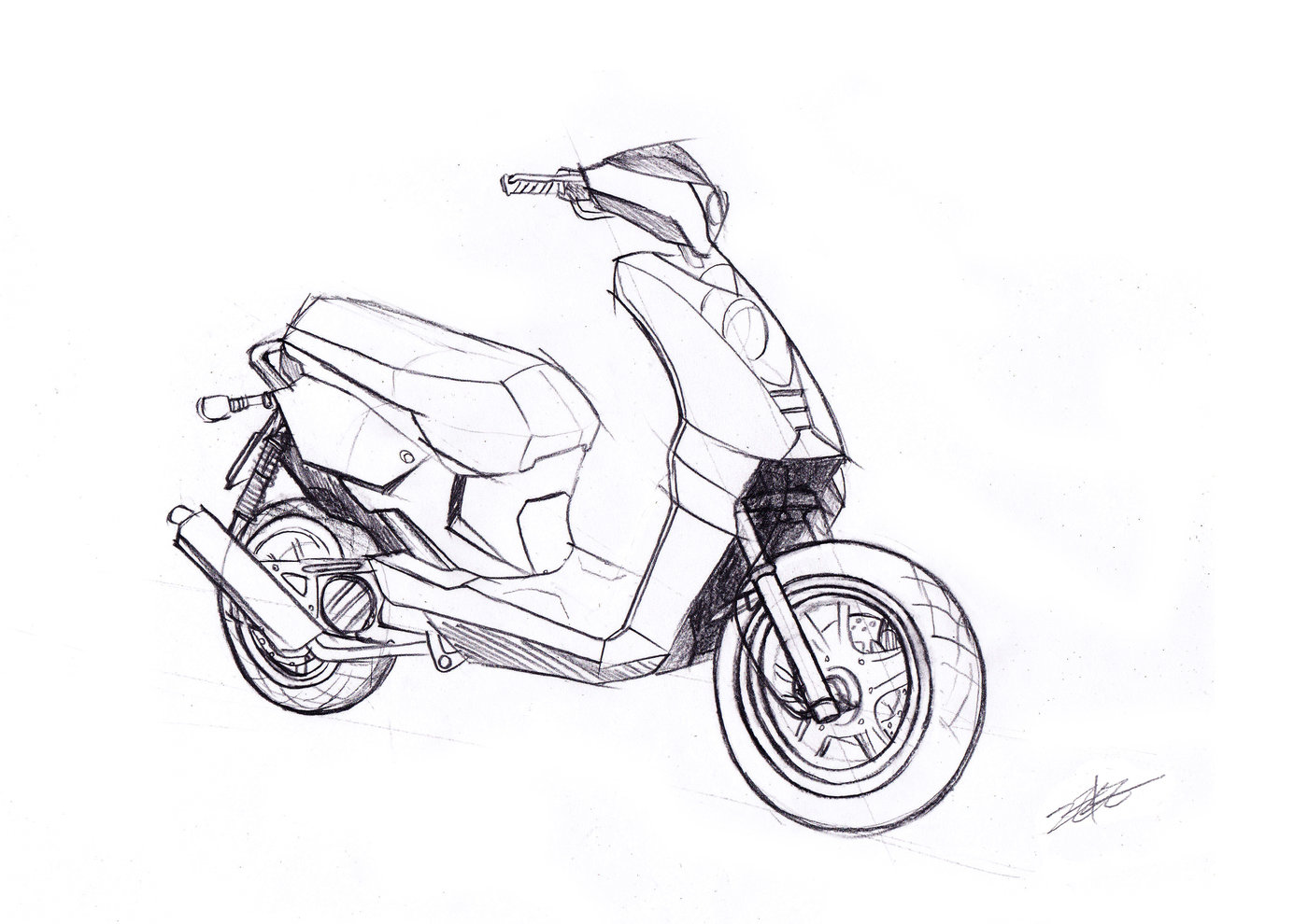 motorcycle sketch images  Motorcycle sketch and 2D rendering by Minghsien Wu at Coroflot.com