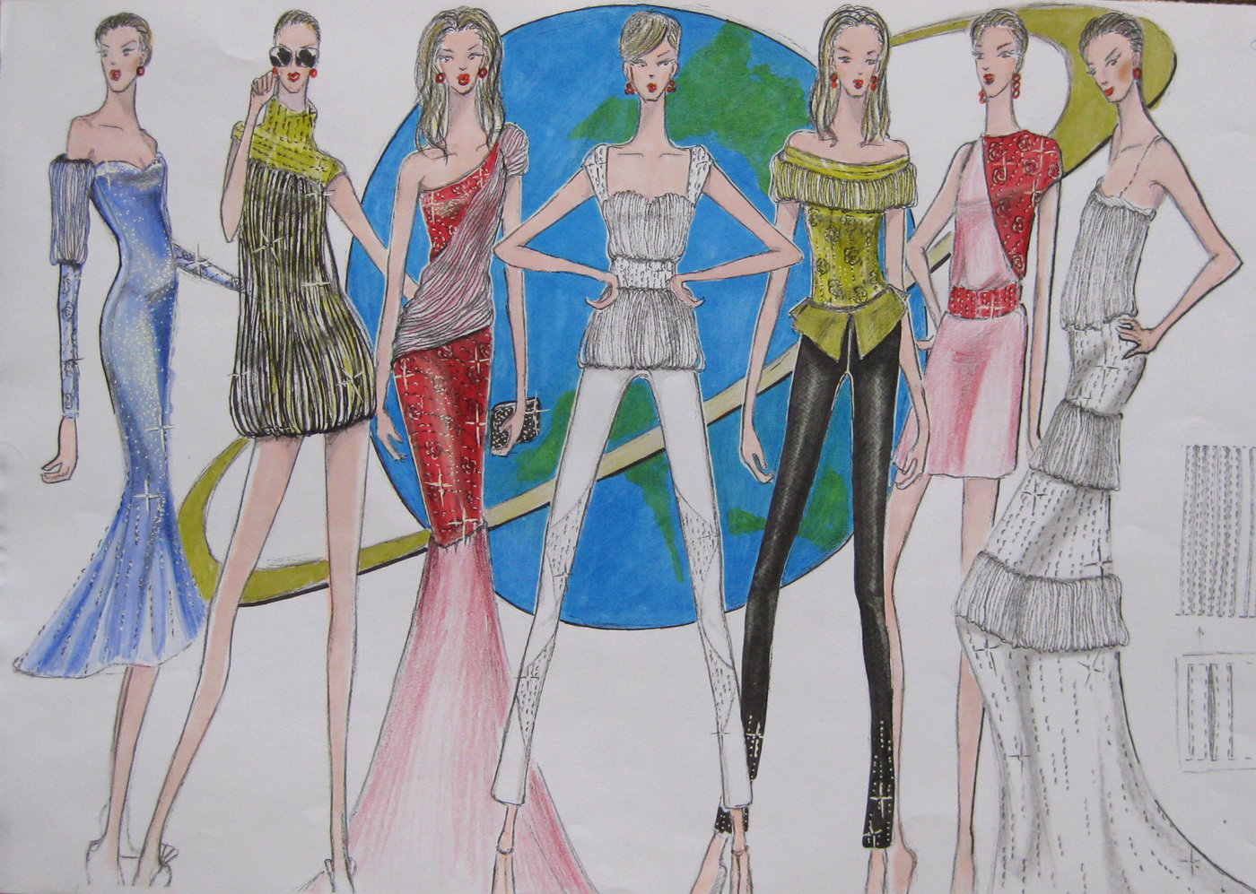Fashion Illustration Presentation By Luanne Lu At Coroflot Com