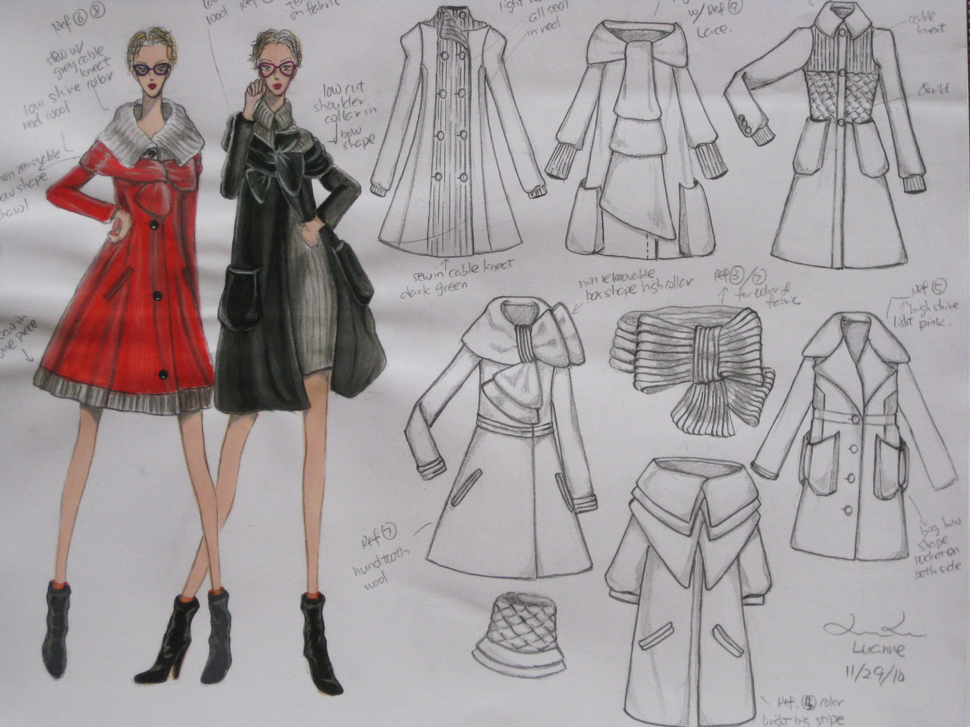 Fashion Illustration Pencil Sketches By Luanne Lu At Coroflot Com