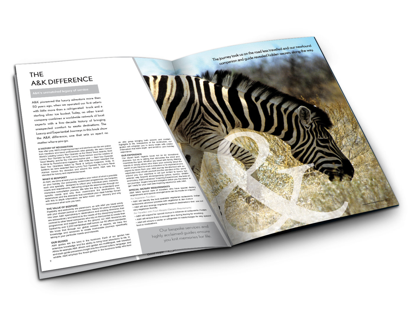 Abercrombie & Kent - Brochure Design by Sandeep Shukla at Coroflot com