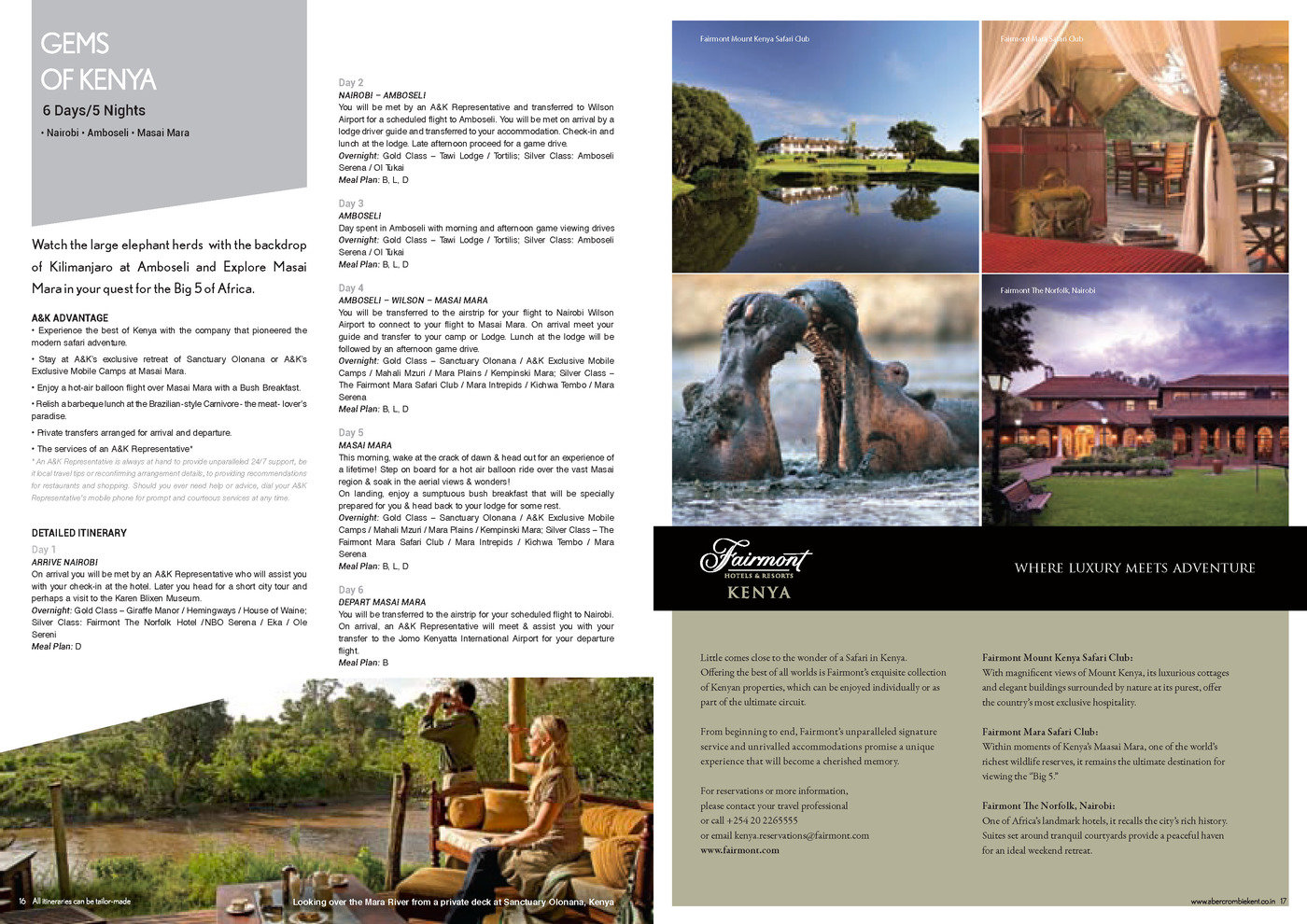 Abercrombie & Kent - Brochure Design by Sandeep Shukla at Coroflot com