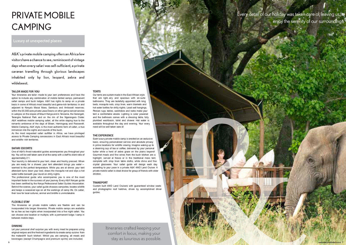 Abercrombie & Kent - Brochure Design by Sandeep Shukla at