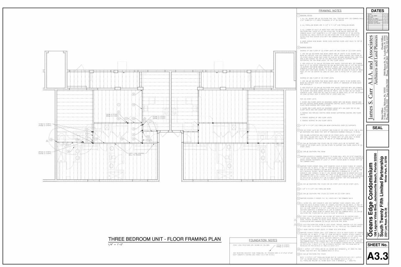 Oceans Edge Condominium Jacksonville FL Drawings by James Feucht at ...