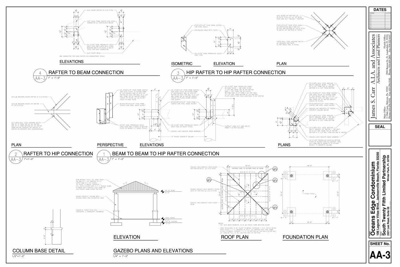 Oceans Edge Condominium Jacksonville Fl Drawings By James Feucht At Cbr 954rr Wiring Diagram Gazebo